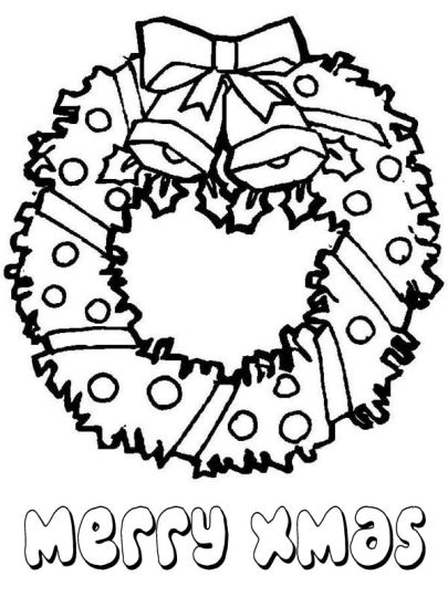 Christmas Wreath Coloring Pages 62
