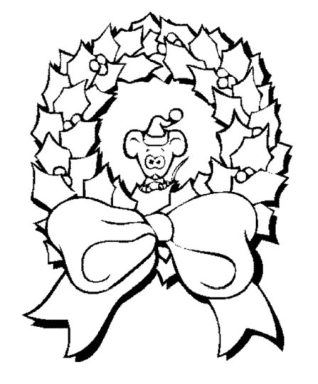 Christmas Wreath Coloring Pages 63