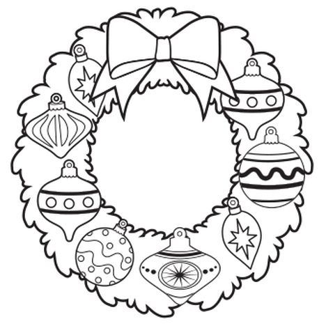 Christmas Wreath Coloring Pages 64