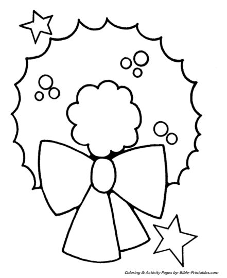 Christmas Wreath Coloring Pages 66