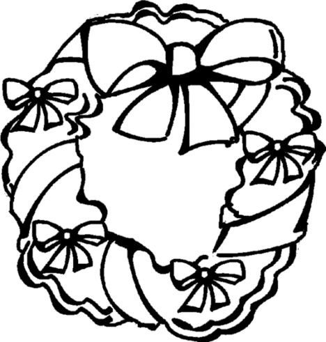 Christmas Wreath Coloring Pages 7