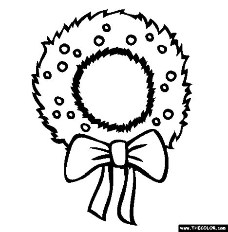 Christmas Wreath Coloring Pages 70