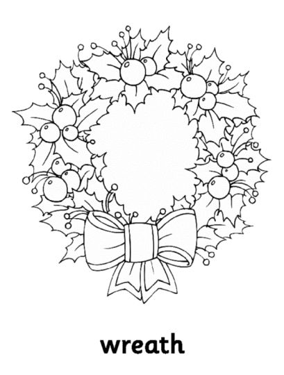 Christmas Wreath Coloring Pages 9