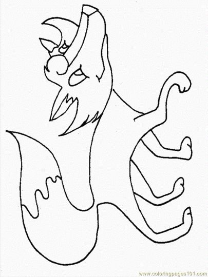 Cute Baby Fox Coloring Pages 15