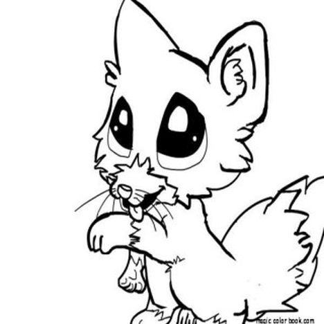 Cute Baby Fox Coloring Pages 18