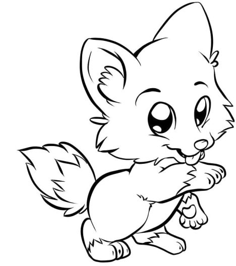 Cute Baby Fox Coloring Pages 20