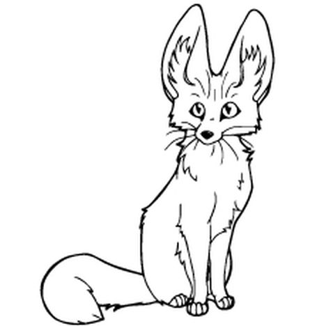 Cute Baby Fox Coloring Pages 24