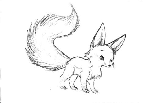 cute baby fox coloring pages 34 - Baby Fox Coloring Pages