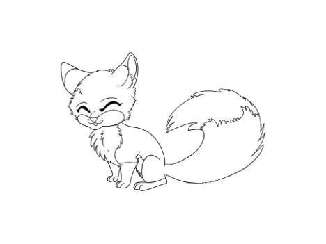Cute Baby Fox Coloring Pages 35