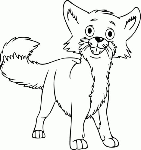 Cute Baby Fox Coloring Pages 36
