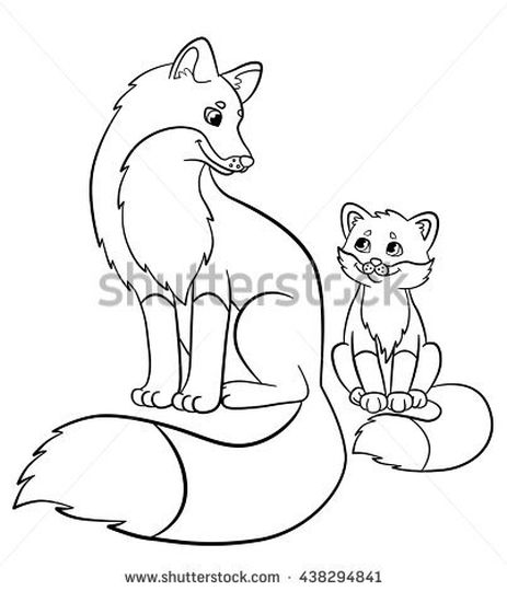 Cute Baby Fox Coloring Pages 37