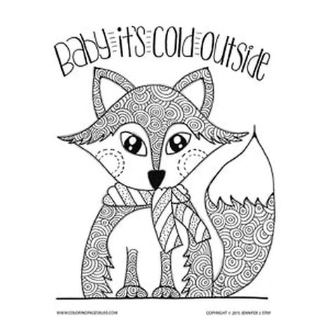 Cute Baby Fox Coloring Pages 45