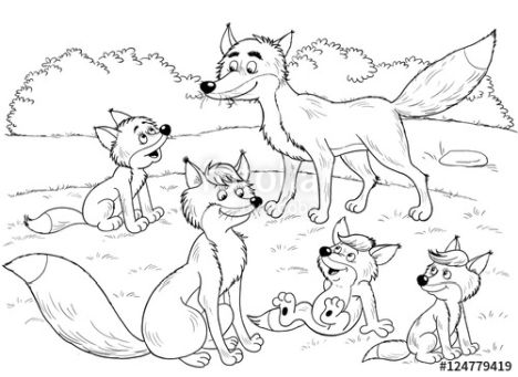 Cute Baby Fox Coloring Pages 48