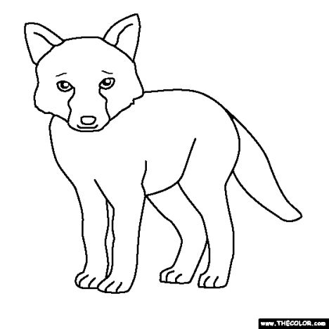 Cute Baby Fox Coloring Pages 5