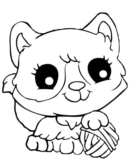 Cute Kitten Coloring Pages 10