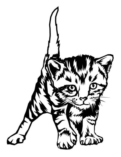 Cute Kitten Coloring Pages 16