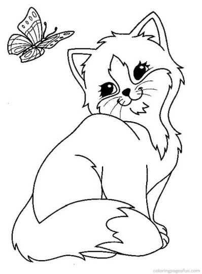 Cute Kitten Coloring Pages 18