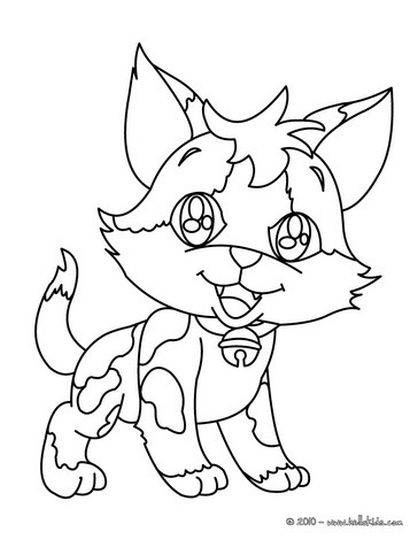 Cute Kitten Coloring Pages 2
