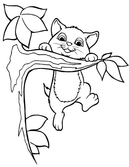 Cute Kitten Coloring Pages 20