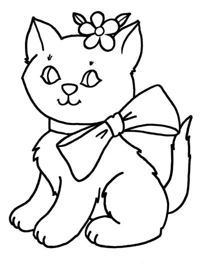 Cute Kitten Coloring Pages 23