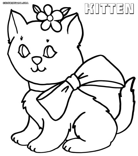Cute Kitten Coloring Pages 26