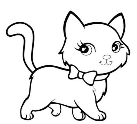Cute Kitten Coloring Pages 28