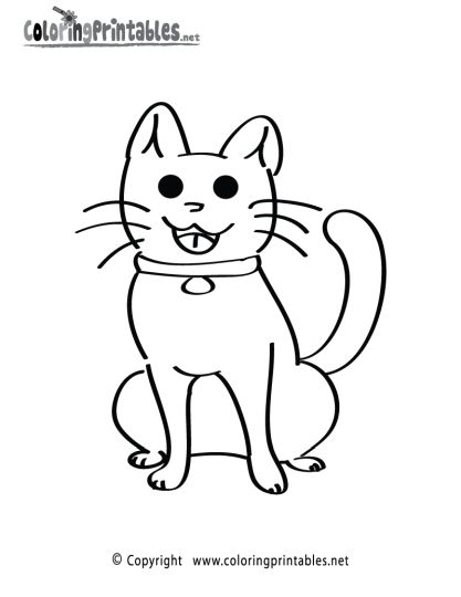 Cute Kitten Coloring Pages 30