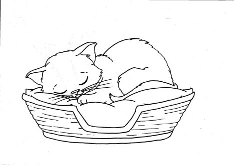 Cute Kitten Coloring Pages 37