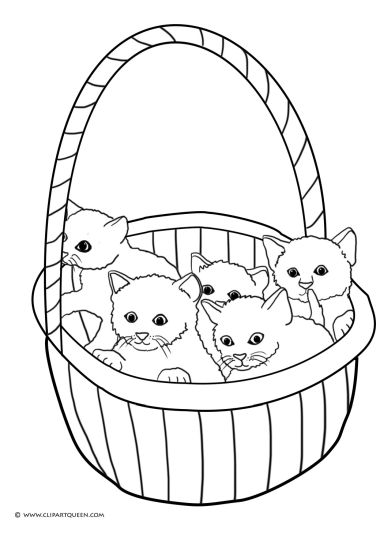 Cute Kitten Coloring Pages 38