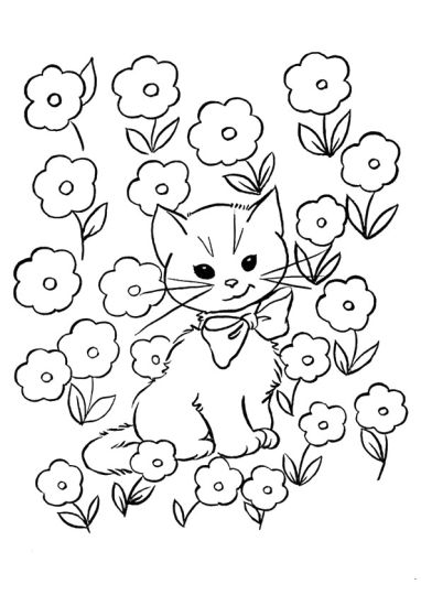 Cute Kitten Coloring Pages 39