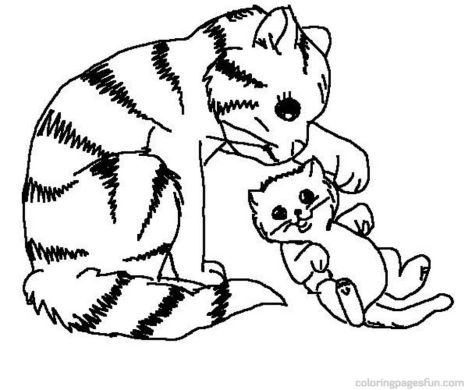 Cute Kitten Coloring Pages 40