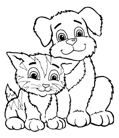 Cute Kitten Coloring Pages 41