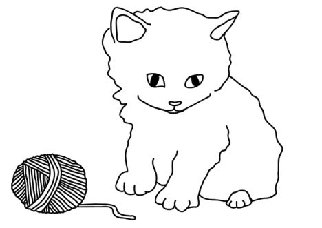 Cute Kitten Coloring Pages 42