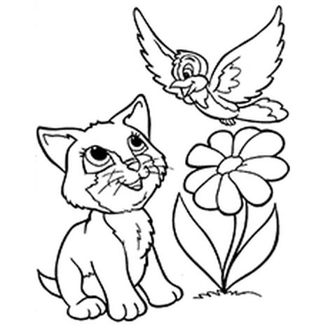 Cute Kitten Coloring Pages 43
