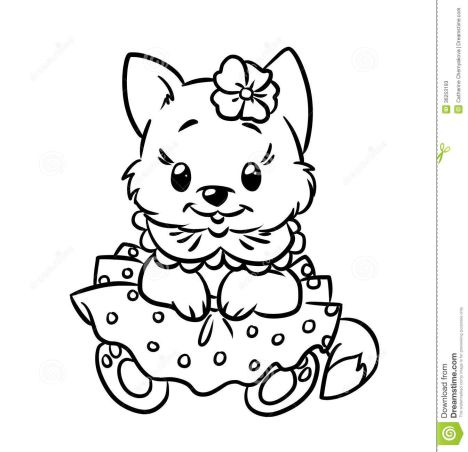 Cute Kitten Coloring Pages 45