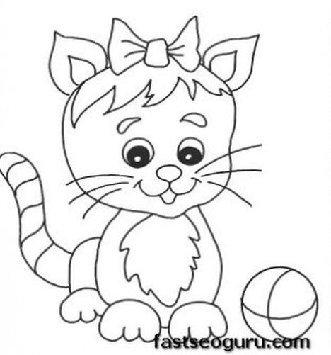 Cute Kitten Coloring Pages 46