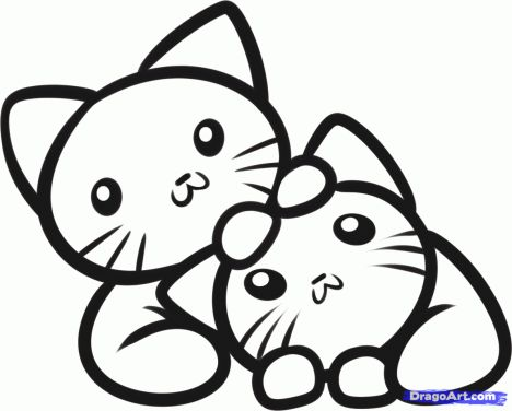 Cute Kitten Coloring Pages 47