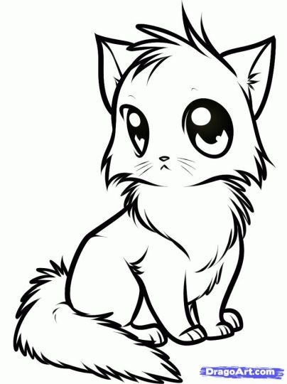 Cute Kitten Coloring Pages 48