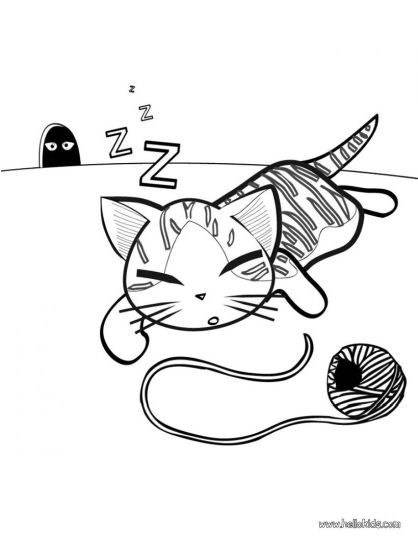 Cute Kitten Coloring Pages 49