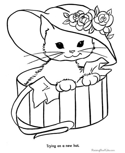 Cute Kitten Coloring Pages 5