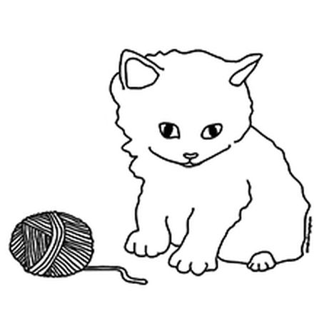 Cute Kitten Coloring Pages 51