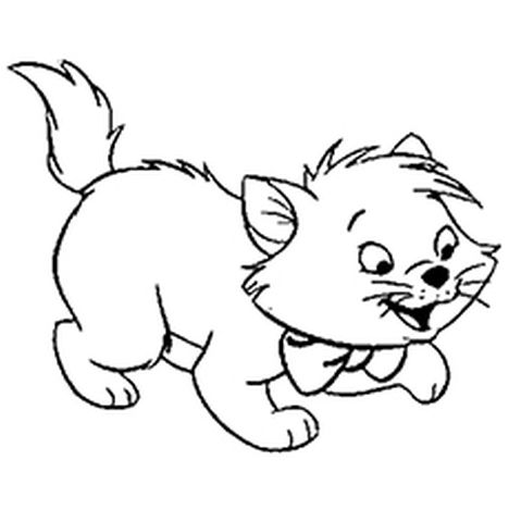 Cute Kitten Coloring Pages 52