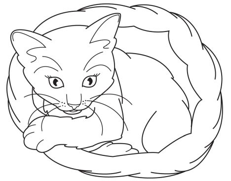 Cute Kitten Coloring Pages 57