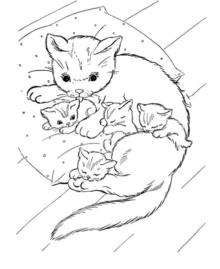 Cute Kitten Coloring Pages 59