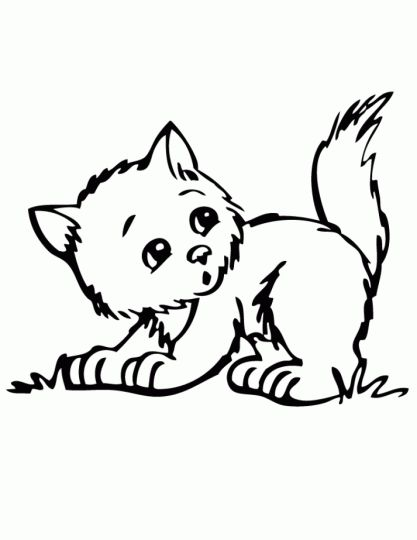 Cute Kitten Coloring Pages 6