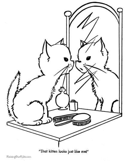 - Cute Kitten Coloring Pages - Part 7