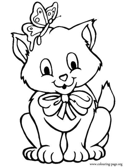 Cute Kitten Coloring Pages 64