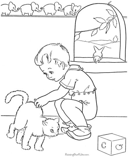 Cute Kitten Coloring Pages 65