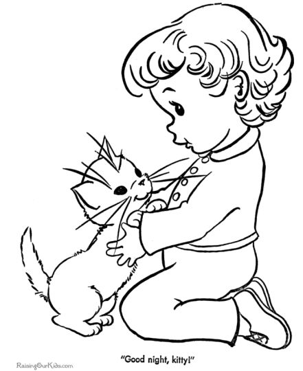 Cute Kitten Coloring Pages 66