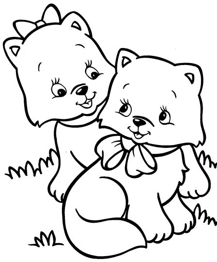 Cute Kitten Coloring Pages 67